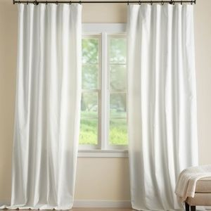 Pottery Barn Ivory Cameron Cotton Drape Curtain